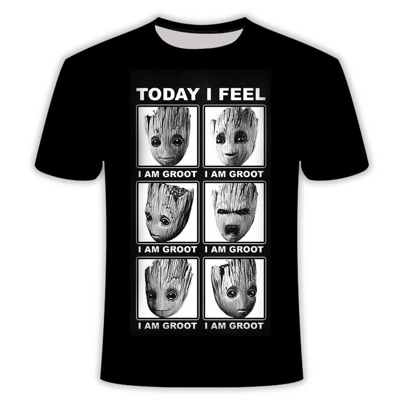 スーパーヒーロー groot 映画 voogd バンデ銀河 tシャツ zomer nieuwe mannen3D プリント万年 en vrouwen ベビー groot bloempot groot tシャツ