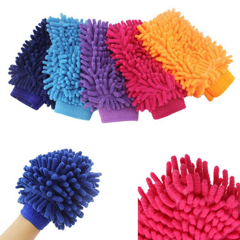 Car Wash Brush Automotive Cleaner Soft Chenille Microfiber Washing Gloves Motorcycle Washer Care Towels