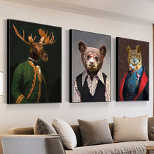 Walrus Llama Owl Bear Moose Wall Art 5D DIY Diamond Painting Nordic Posters General Animal Diamond Embroidery Wall Decor Art for Living Room(China)