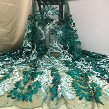 Madison High Quality Tulle Laces Fabric Nigerian Lace Fabrics Party Sequins French Lace African Material For Wedding Dresses