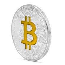Позолоченные Биткоин памятные монеты коллекционные BTC художественная коллекция физический Q9QA