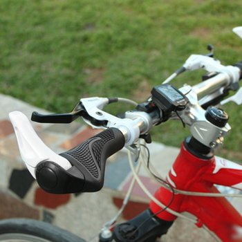 1 Set Cycling MTB Mountain /road Bike Bicycle lock-on carbon Handlebar Cover Handle Grip Bar End bicycle parts new image