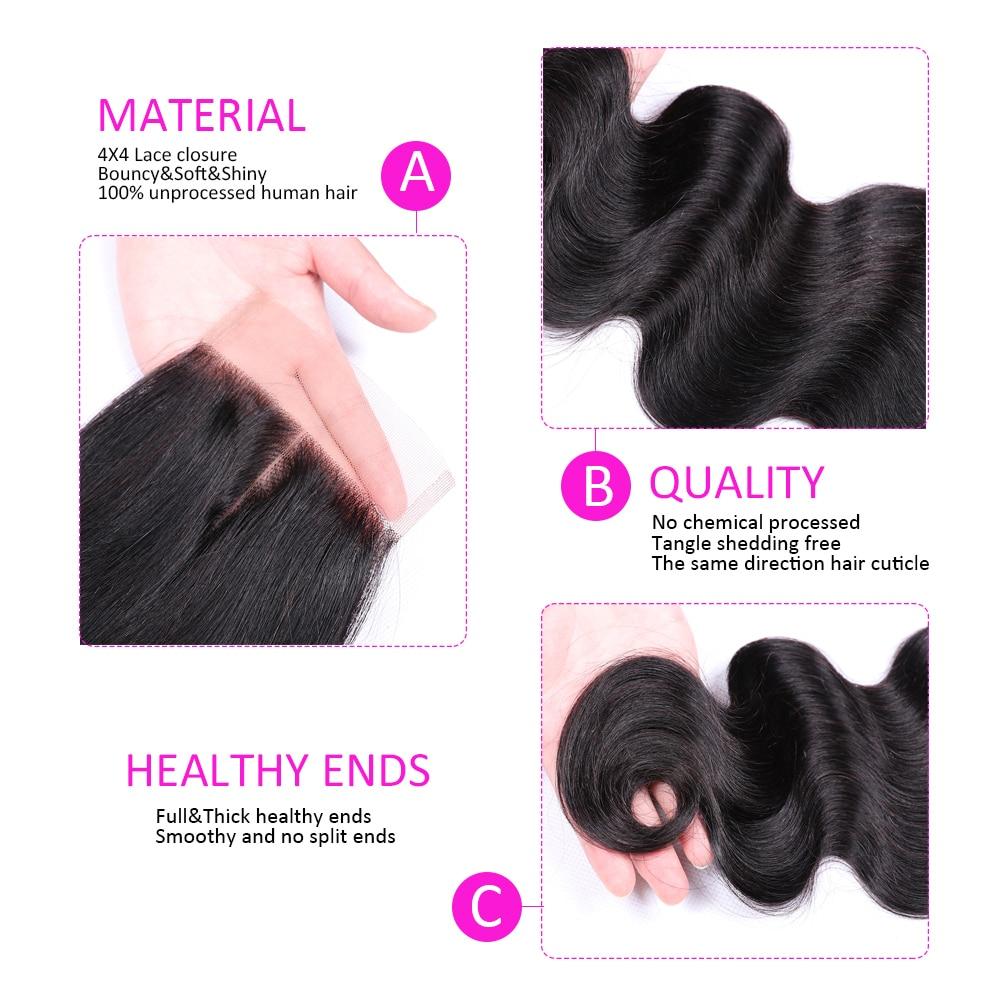 H6c0ce52f249c4b2a9e139443bb84d5d3e Abijale Body Wave Bundles With Closure Brazilian Hair Weave Bundles With Closure Human Hair Bundles With Closure Remy