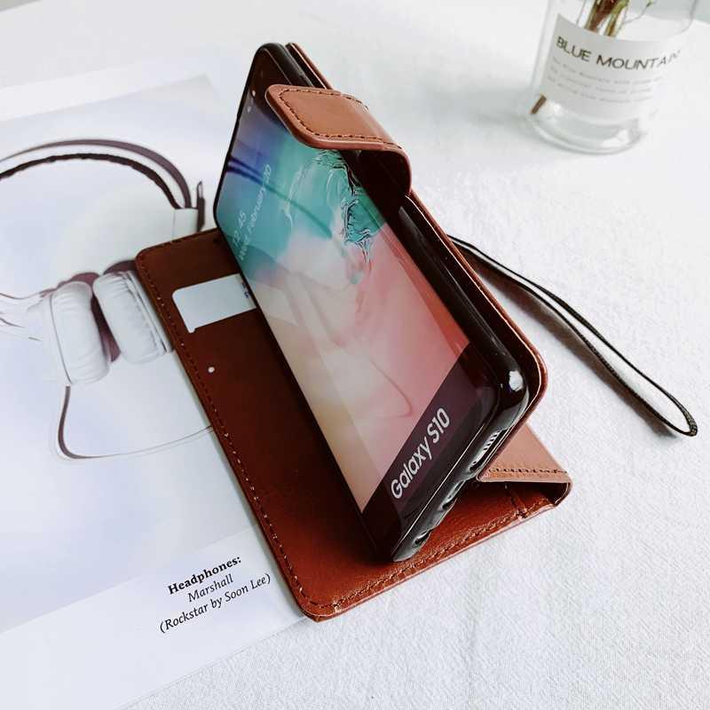 Cuero Flip Stand funda billetera para Xiaomi Mi 8 9 A2 Lite A3 9T Redmi Note 5 6 Plus 6A 7 8 8A T 8 9S Pro Max K20 Coque