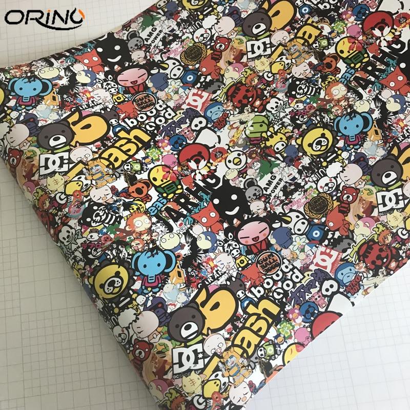 Cartoon Graffiti Sticker Bomb Vinyl Film Wrap-5