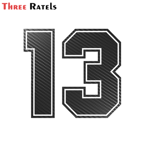 FTZ-154 Number 13 Carbon Fiber Funny Car Sticker Vinyl Decal Auto Car Stickers and Decals Sticker on Car Styling Decoration