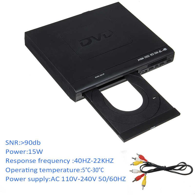 Mini DVD Player HDMI 1080 P USB/AV Portable Beberapa Pemutaran ADH DVD CD SVCD VCD MP3 Jepg JPEG home Theatre System 110 V-220 V