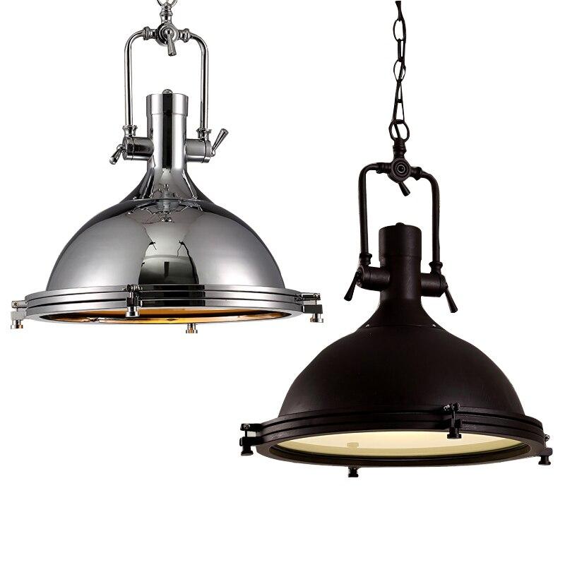 Vintage Loft amerykański łańcuszek wisiorek światło kraj restauracja przemysł metali ciężkich lampa wiatr przywracając dawne sposoby Robles