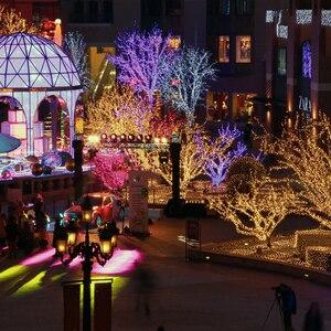 Weihnachten Im Freien weihnachten led string lichter 100M 10M 5M Luces Decoracion fee licht urlaub lichter beleuchtung baum girlande