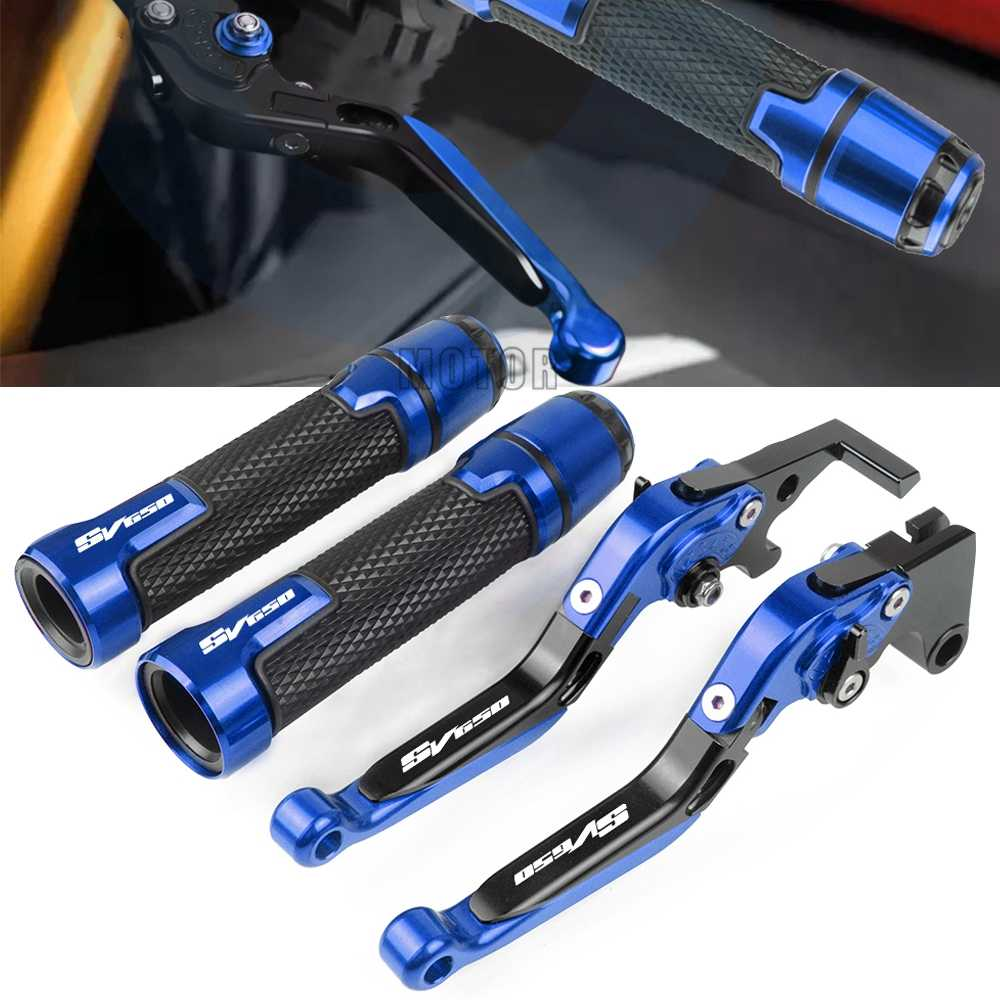 Brake Clutch Levers /& Handle Grips Bar End For Suzuki SV650 SV650S 1999-2009 New