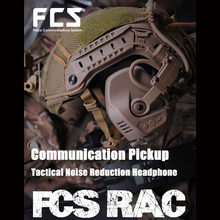 FCS-RAC Pickup Noise Reduction Kopfhörer SCHNELLE Helm Drahtlose Kommunikation Tactical Headset - Tan Stimme Version(China)
