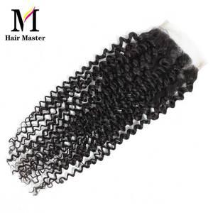 Image 4 - שיער מאסטר ברזילאי מתולתל גל סגירת רמי שיער טבעי סגירת 4x4 טבע צבע קרלי סגירת משלוח חינם