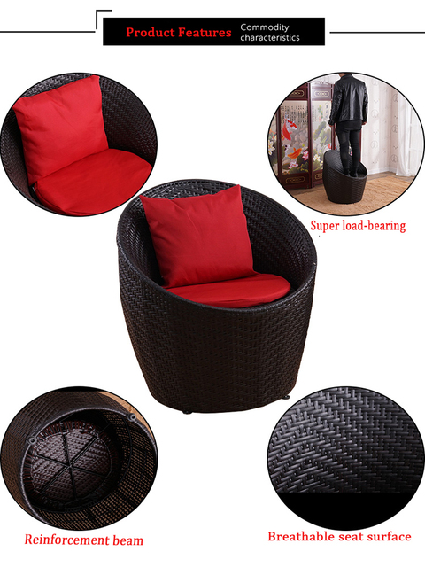 Rattan Outdoor Round Table w/Chairs 5