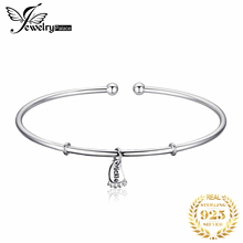 Foot Love Bracelet Silver Charm Cuff Bangles 925 Sterling Bracelets For Women Jewelry Making