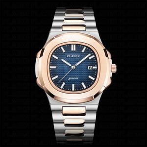 Image 2 - חדש שני טון זהב פטק שעון נאוטילוס 5711 מעצב שחייה גברים של שעון פלדת רצועת אופנה מקרית מכירה לוהטת AAA יוקרה שעונים