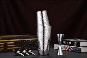 Image 5 - Premium 5 Pieces Boston Shaker Set: 18/8 stainless steel Boston Shaker, 25/50ML Double End Jigger, 2 Pourers, High grade barware