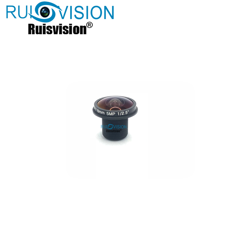 HD 5MP Pixel 1.8mm Fisheye Lens CCTV Camera Lens IR M12 Lens With 650nm IR Filter Not Inductive Infrared