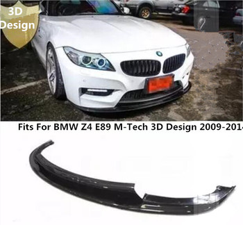 Car Carbon Fiber Front Bumper Lip Spoiler Auto Car Diffuser Fits For BMW Z4 E89 M-tech 3D Design 2009-2014