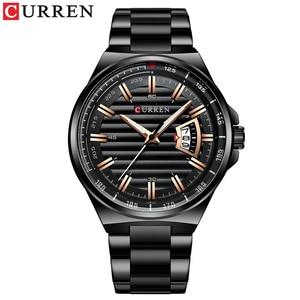 Image 2 - Men Luxury Brand Quartz Watch CURREN Stainless Steel Band Wristwatch Fashion Style Watch Man Auto Date Relogio Masculino