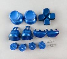 1Set bunte für ps4 jds040 Metall Kugel Tasten thumbstick cap L1 R1 L2 R2 Dpad Aluminium kappe frühling Taste für PS4 pro jdm040