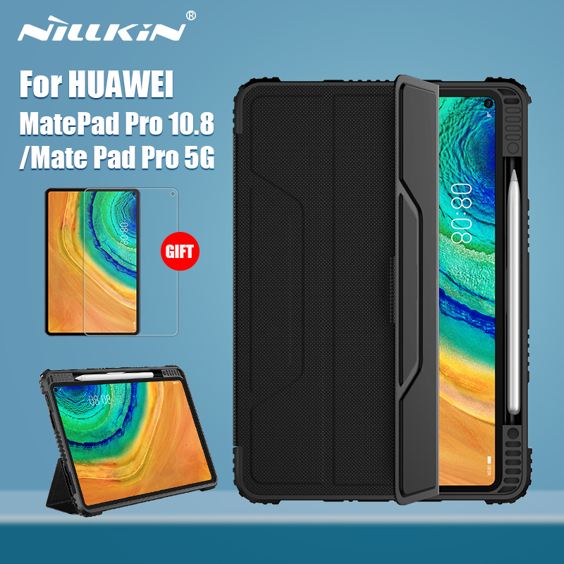 NILLKIN For Huawei Mate Pad Pro Case 10.8 Magnetic PU Leather Flip Cover PC Back Cover For Huawei MatePad Pro 5G With Protector