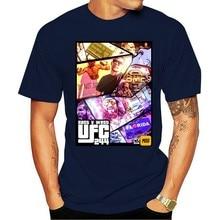 Leste e westharajuku streetwear camisa men244 nate diaz e jorge masvidal t camisa welterweightmen preto