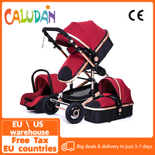 Multifunktionale 3 in 1 Kinderwagen luxus Tragbare Hohe Landschaft 4 Rad Kinderwagen Klapp Wagen Gold Baby Neugeborenen Kinderwagen