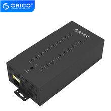 ORICO 20 Ports Industrielle USB 2,0 HUB mit Lade Modus und Datum Modus-Schwarz (IH20P)