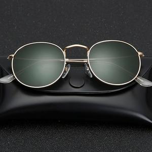 Image 1 - Obiettivo di vetro Piccolo Rotondo Occhiali Da Sole delle donne degli uomini Struttura In Metallo Occhiali Da Sole Degli Uomini Delle Donne delle signore di Lusso retrò di guida occhiali da sole occhiali