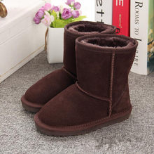 New Children Boots Australia Waterproof Girls Boys Snow Boots Baby Winter boot Fur Warm Boots for Kids Size 21-35(China)