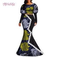 Африканская Одежда элегантная женская одежда с длинными рукавами