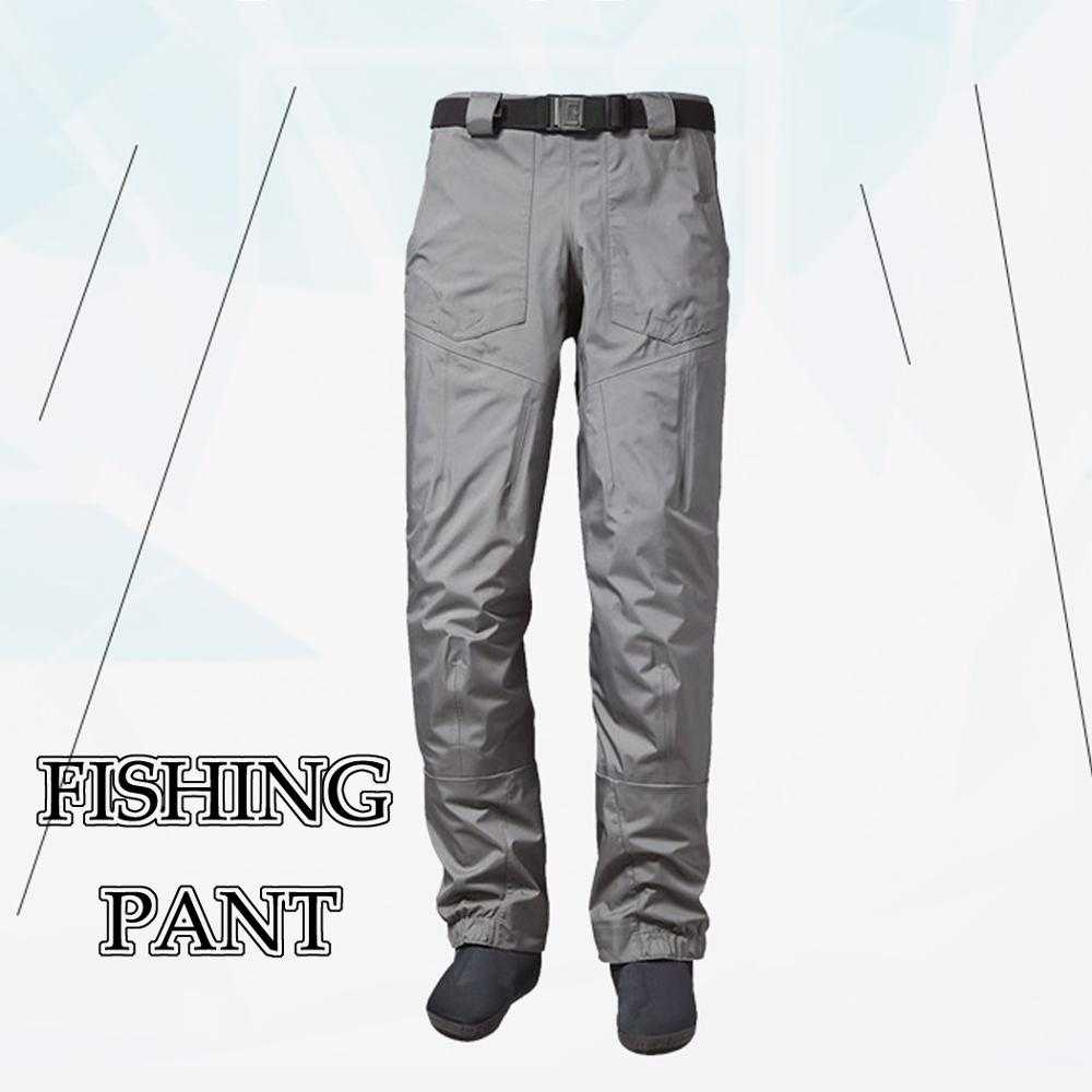 Men's Women Fly Fishing Waist Wading Pants 3-Ply Durable Breathable And Waterproof With Neoprene Stocking Foot For Duck Hunting
