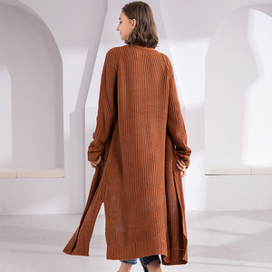 Image 5 - Colorfaith New 2020 Autumn Winter Womens Sweaters Korean Style Minimalist Solid Multi Colors Casual Long Cardigans SW8528