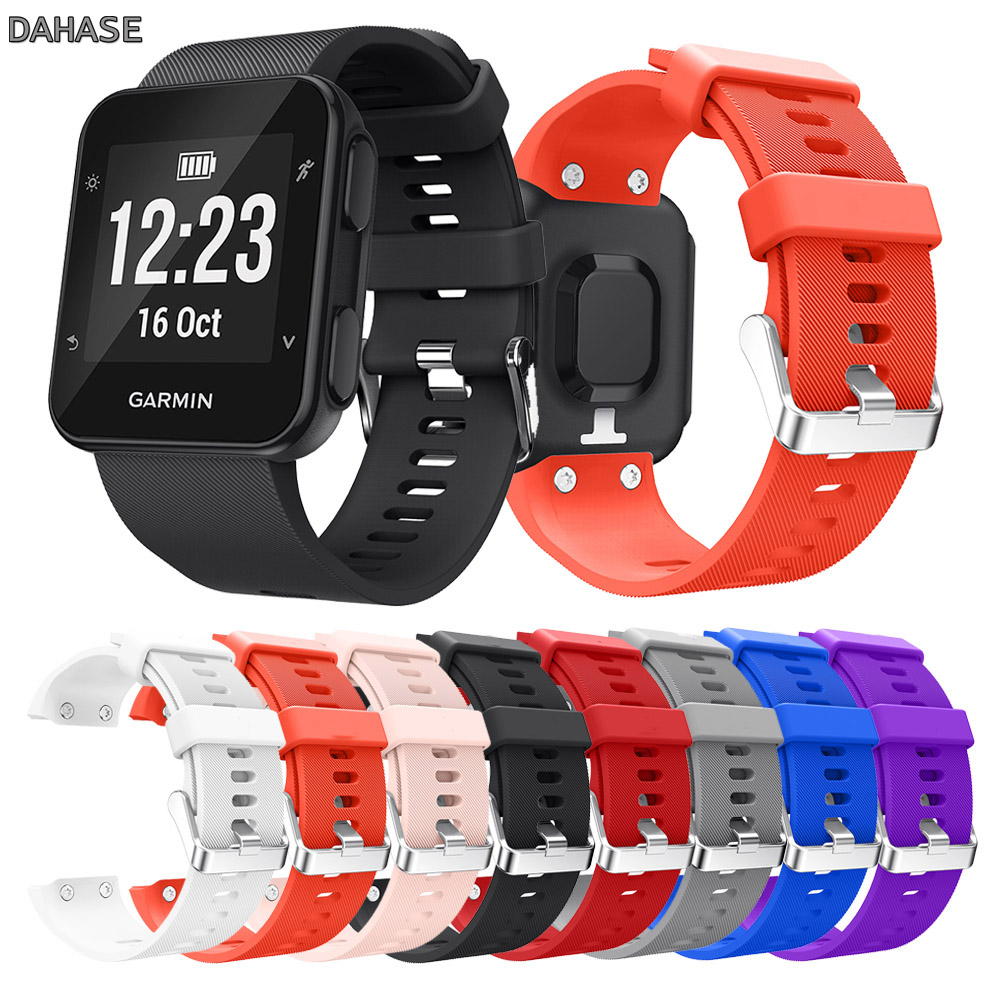 Replacement Wristband Watch Band For Garmin Forerunner 35 Smart Watch Strap Soft Silicone Wrist Watch Bracelet Band Strap