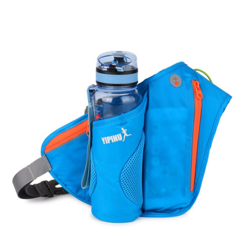 Outdoor Sports Double Layer Bottle Waist Pack Hiking Mountaineering Waterproof Mobile Phone Chest Bag
