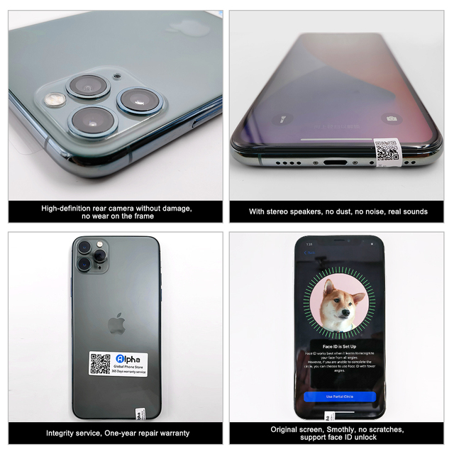 """100% Original Apple iPhone 11 Pro Max OLED Triple Rear Camera Cellphone 6.5"""" 4GB ROM 64/256GB Face ID A13 Chipset Unlocked Used 3"""