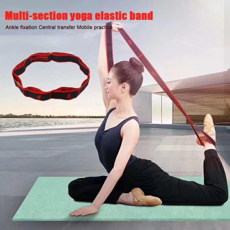 High Stretch Yoga Belt Resistance Bands Women Girls Latin Dance Elastic Stretch Belt Exercise Pull Strap Sports Resistance Bands