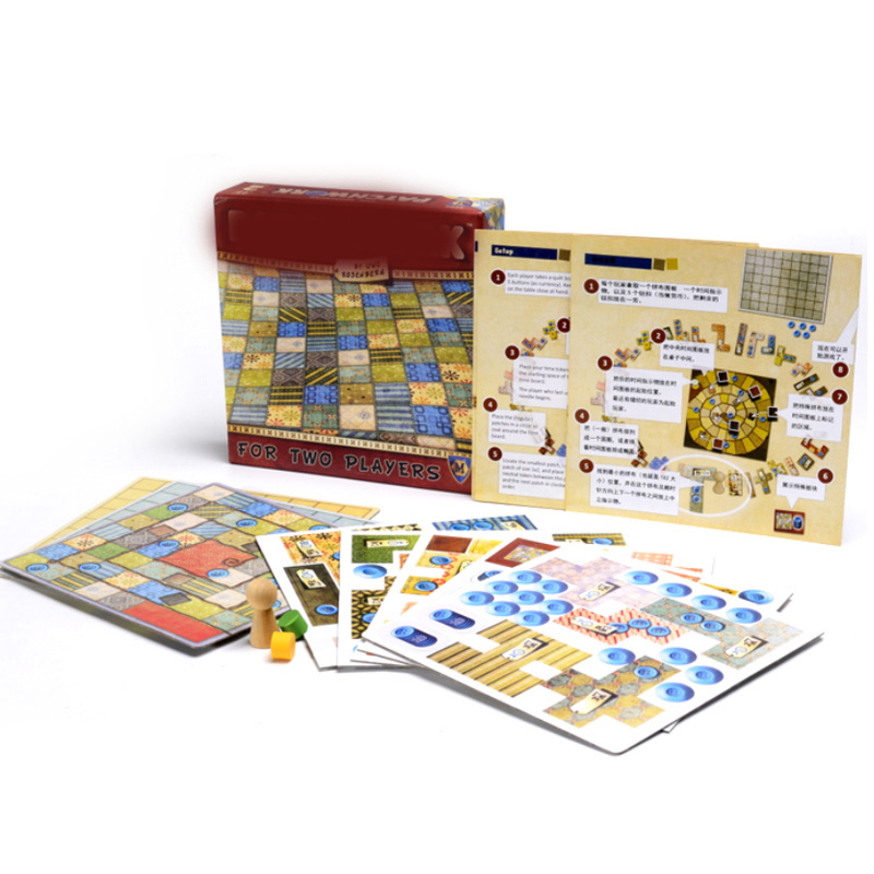 Two Players Patchwork Board Game For  Funny Party Games Paper Cards Chinese/English Version