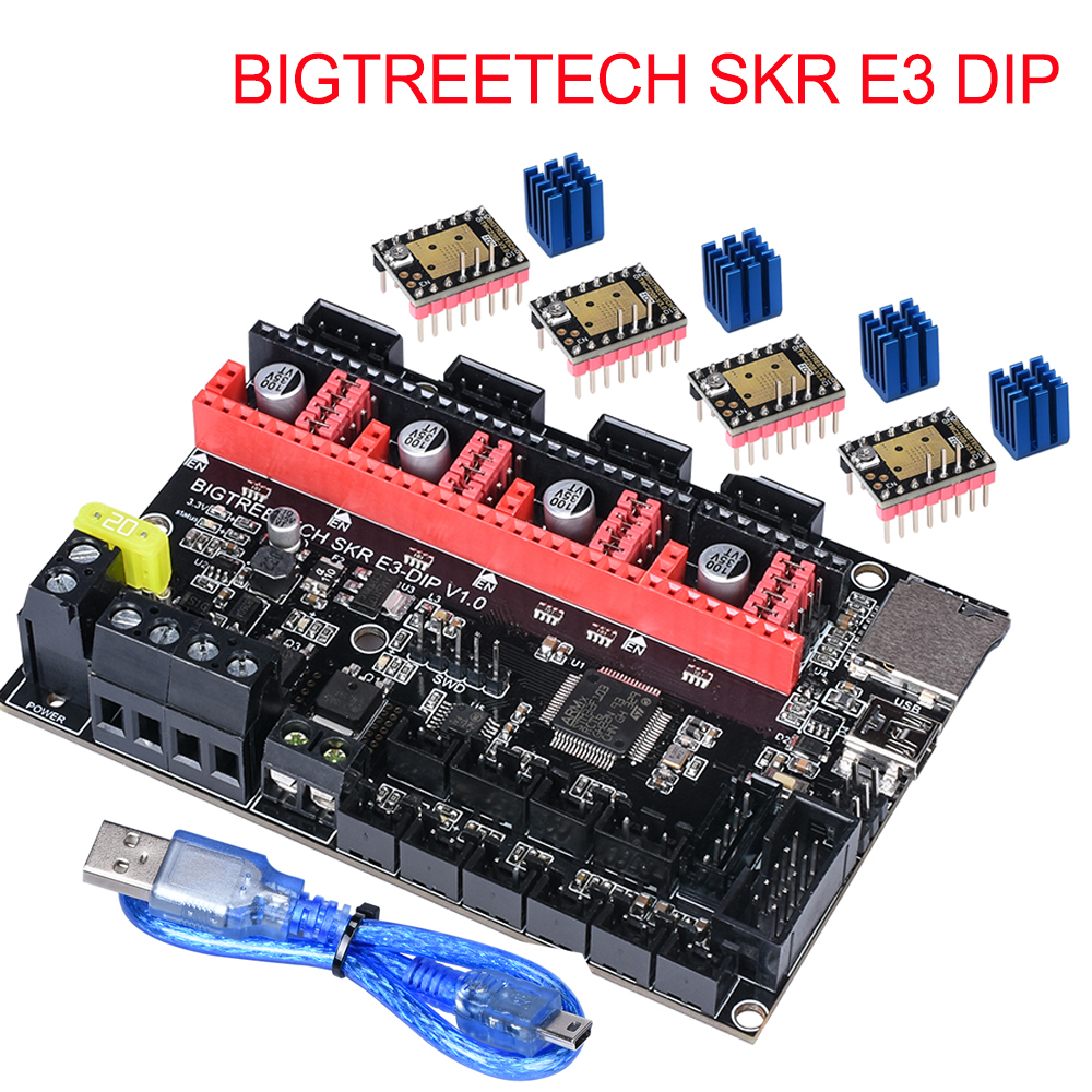 BIGTREETECH SKR E3 DIP Controller Board 32 Bit For Ender 3-5 3D Printer Parts+TMC2208 UART TMC2130 A