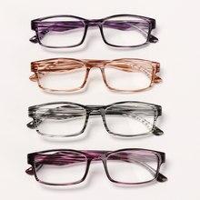 1pc moda presbiopia óculos de leitura glassess impresso quadro óptico óculos diopter + 1.0 +