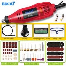 BDCAT 180w grawerowanie elektryczne narzędzie obrotowe zmienna prędkość Mini wiertarka szlifierka z elektronarzędziami akcesoria narzędziowe dremel