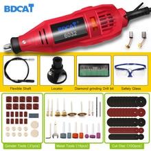 BDCAT outil rotatif électrique de ciselure 180w, vitesse Variable, Mini perceuse, Machine de broyage, avec outils électriques Dremel, accessoires doutils
