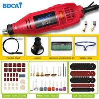 Bdcat 180w 조각 전기 로타리 도구 가변 속도 미니 드릴 연 삭 기계 전동 공구 dremel 도구 액세서리|전기 드릴|도구 -