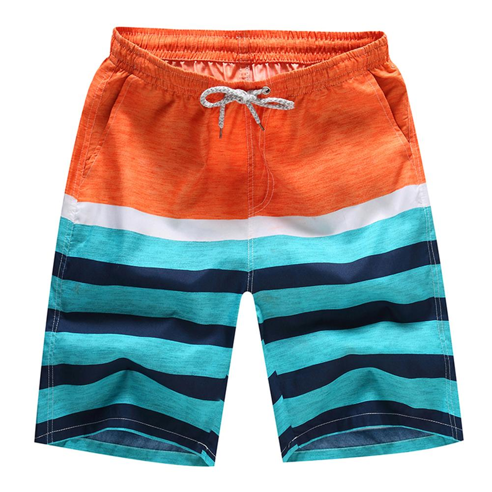 Men's Beach Pants Casual Loose Floral Shorts Quick-Drying Surfing Beach Pants