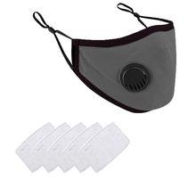 Unisex máscara de algodão lavável reutilizável máscara de boca ao ar livre pm2.5 poluição respirador filtro de respiração valor máscara protetora