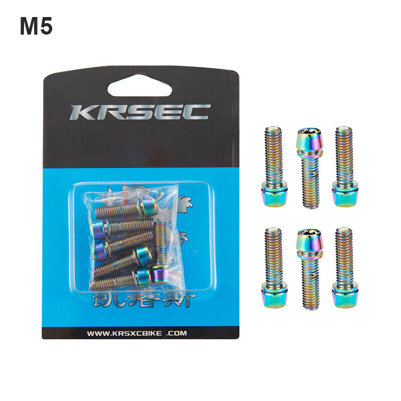 KRSCT MTB <font><b>Bike</b></font> Handlebar <font><b>Stem</b></font> Screws 6Pcs/Boxed M5/M6*18mm Bolts <font><b>Nut</b></font> Bearing image