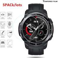 5 pacote para relógio de honra gs pro protetor de tela de vidro temperado protetor de filme para relógio de honra gs pro inteligente pulseira proteção filme