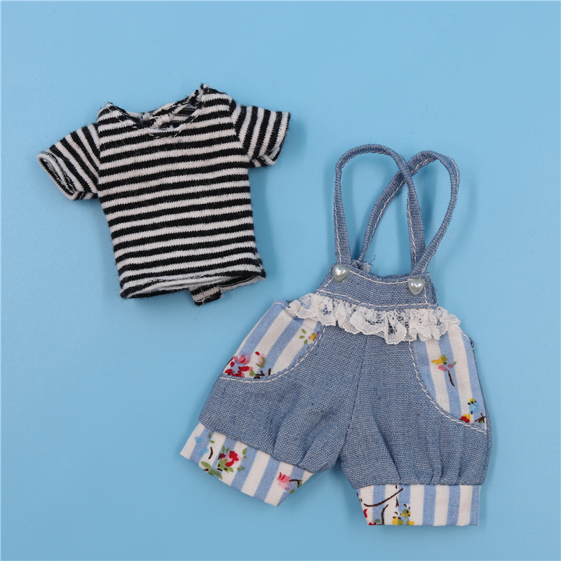 Neo Blythe Doll Lace Denim Jumpsuit 1