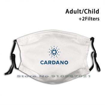 Cardano Ada Crypto Logo Face Mask  1