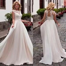 Lace Round Neck Gold Wedding Dress Type A Slim Retro Beige Belt Sexy